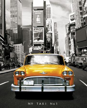 NY Taxi No 1 - Yellow New York Taxi Number 1
