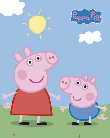 Peppa and George Enjoying The Sun - Peppa Pig