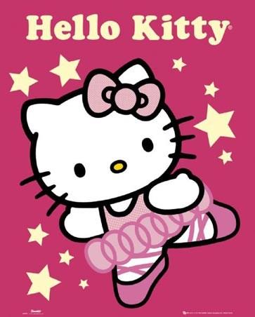 Pretty pink ballerina hello kitty popartuk - Ballerine hello kitty ...