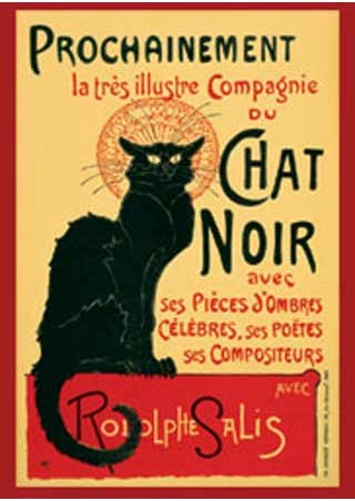 Tournee du Chat Noir (Turn of the Black Cat) - Theophile Alexandre Steinlen