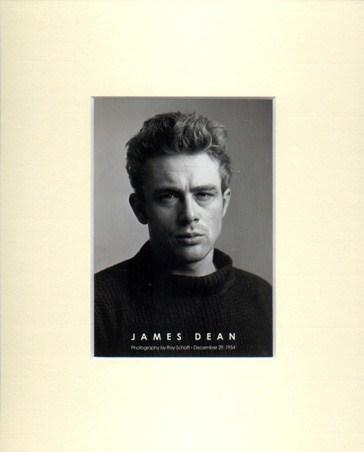 James Dean, 1954 - James Dean Matted Print