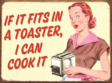 Toaster Cookery - Retro Humour