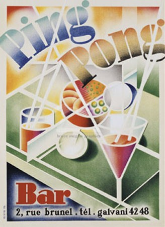 Ping Pong Bar - Vintage Advertising Art
