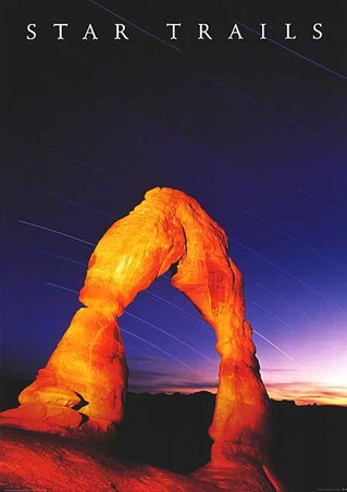 Star Trails - Delicate Arch