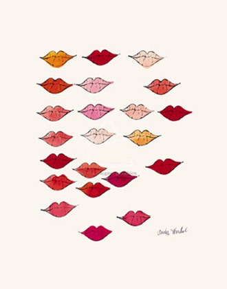 Stamped Lips - Andy Warhol