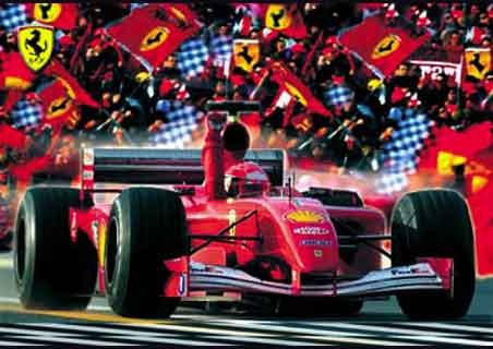 Flags out at the Formula One Grand Prix - Ferrari