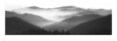 Misty Mountains in Black and White - Brian Kosoff
