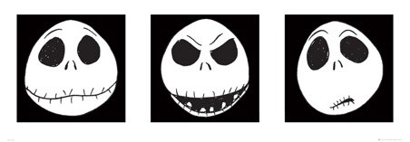 The Faces of Jack Skellington - The Nightmare Before Christmas