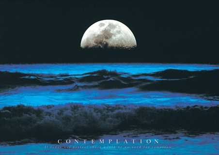 Moon over Breaking Waves - Contemplation, Aspirational