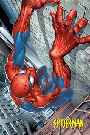 Spider-Man Climbing - Marvel Comic's Spider-Man