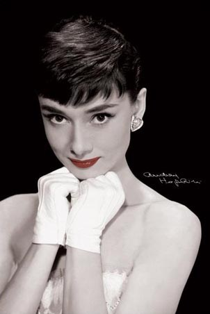 Red Lips - Audrey Hepburn