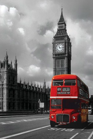 Red Double Decker Bus - London Photography