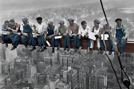 Eating Lunch above New York - Men on a Girder