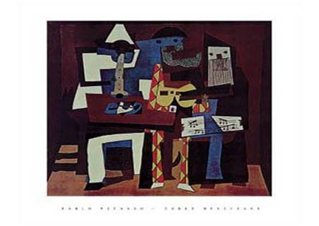 Three Musicians, 1921  - Pablo Picasso
