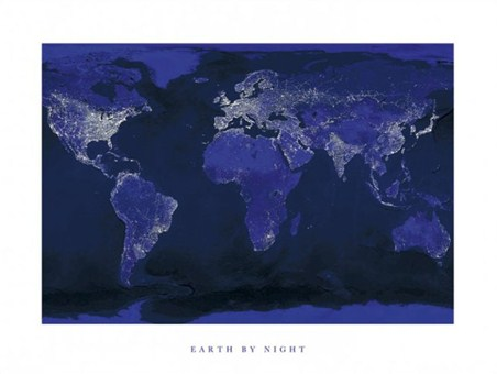 Earth by Night - World Map