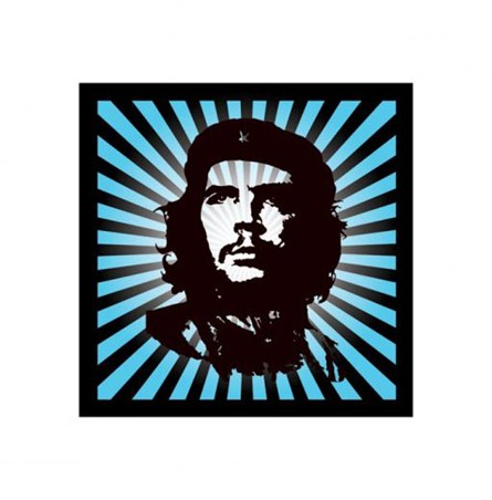 Bold Black Against Blue - Che Guevara