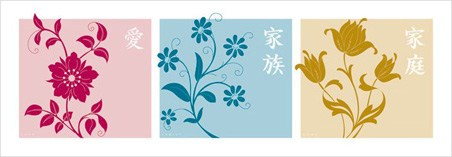 Love, Family, Home - Chinese Writing