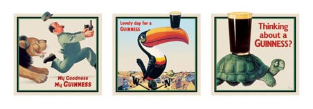 Vintage Advertising Triptych - Guinness