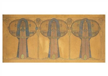 Design for a Decorative Freeze - Frances Macdonald MacNair