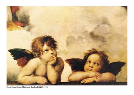 Cherubs (detail from Sistine Madonna) - Raphael