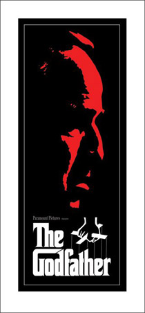 Mob Boss Vito Corleone in Profile (Red) - The Godfather