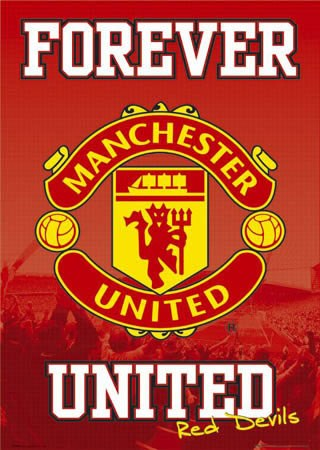 Forever United Man Utd FC Club Badge - Manchester United Football Club