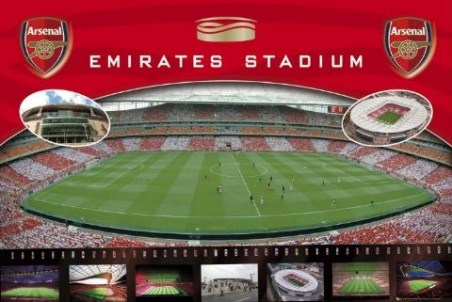 The emirates stadium arsenal football club popartuk for Arsenal mural emirates