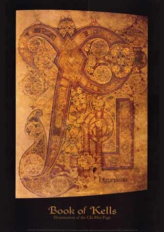 Illumination of the Chi Rho Page - Book of Kells