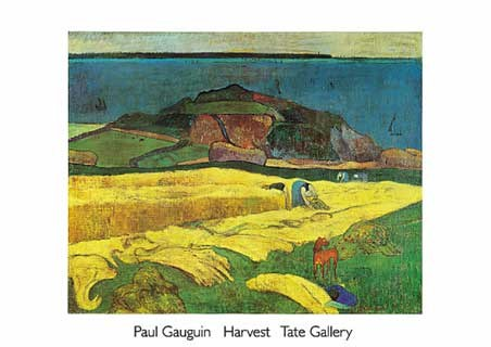The Harvest  - Eug�ne Henri Paul Gauguin