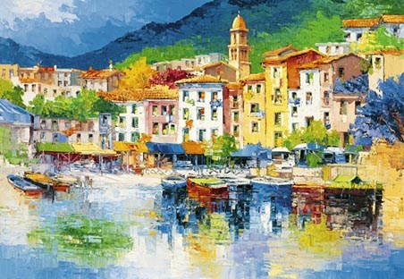 Riviera Ligure�by Antonio di Viccaro - Fine Art 8 Sheet Wall Mural