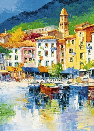 Riviera Ligure by Antonio di Viccaro - Fine Art 4 Sheet Wall Mural