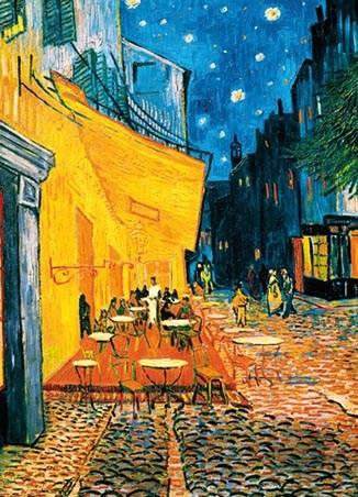 Terrasse de caf la nuit 4 sheet van gogh wall mural for Mural van gogh