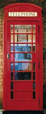 Telephone Box - British Phone Box Door Mural