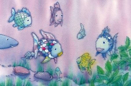The rainbow fish ii mini mural by marcus pfister wall for Rainbow fish story