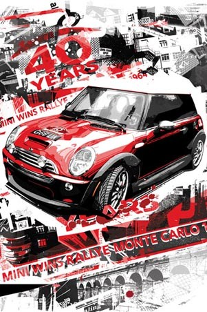 Mini Wins Monte Carlo Rallye - 40 Years of The Monte Carlo Rally by Baz Pringle