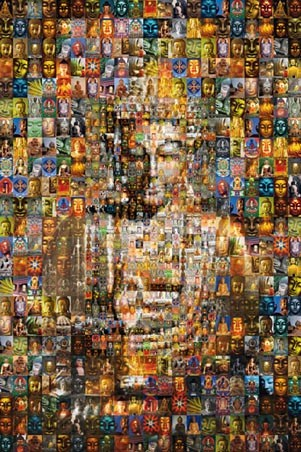 Buddha Mosaic - Stunning Photomosaic
