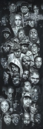 Hip Hop Rap Gods - Black and White Rapper Collage