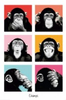 Pop Art Chimps,The Chimp Poster