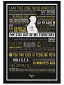 Black Wooden Framed The Many Sayings of Walter White Breaking Bad