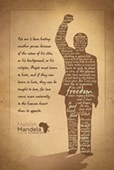 Silhouette Nelson Mandela