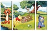 Fun & Games in The Hundred Acre Wood Triptych Walt Disney's Winnie The Pooh