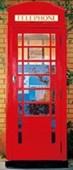 Telephone Box British Phone Box Door Mural