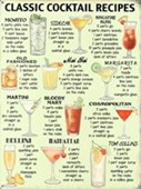 Classic Cocktail Recipes Retro Alcohol Advertising