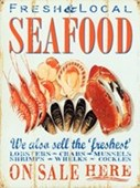 Fresh & Local Seafood Retro Food Advertisement