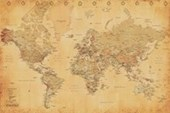 Vintage Style World Map Discover The World