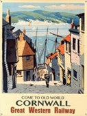 Old World Cornwall Great Western Railway Advert