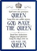 God Save The Queen British Anthem