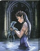 Water Dragon Canvas Print Anne Stokes