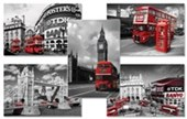 London Colourlight Buses 5 Pack Poster Bundle Deal