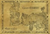 Antique Map Game Of Thrones